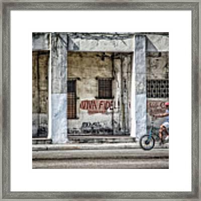 Havana Graffiti Street Scene Framed Print by Gigi Ebert