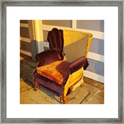 Have A Seat In Dore Alley Framed Print by Mr Photojimsf