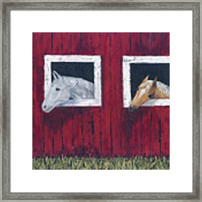 He And She Framed Print by Kathryn Riley Parker
