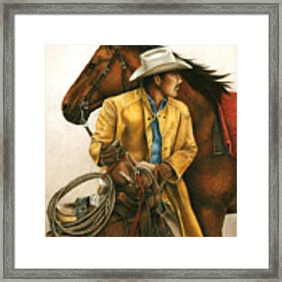 Heading Out Into The Storm Framed Print by Pat Erickson