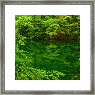 Hidden Lake Framed Print by Brad Brizek