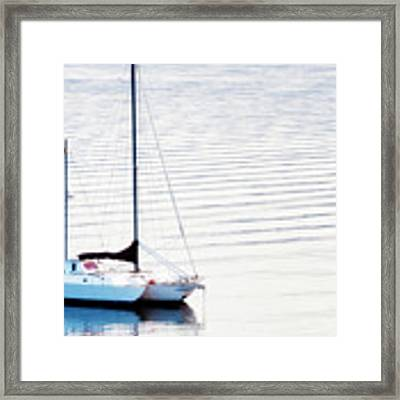 High Key Sail Framed Print by Dee Browning