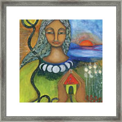 Home Is Where Your Heart Is Framed Print by Prerna Poojara