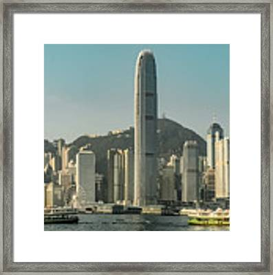 Hong Kong - Downtown Waterfront Framed Print by Mark Forte