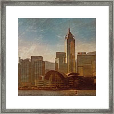 Hong Kong - Hong Kong Sunrise Framed Print by Mark Forte