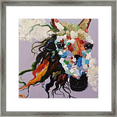 Puzzle Horse Head  Framed Print by Rosario Piazza