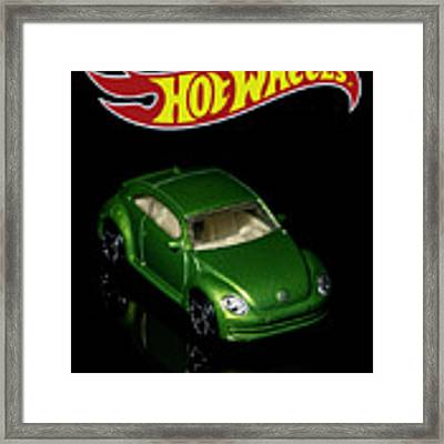 Hot Wheels 2012 Volkswagen Beetle Framed Print by James Sage