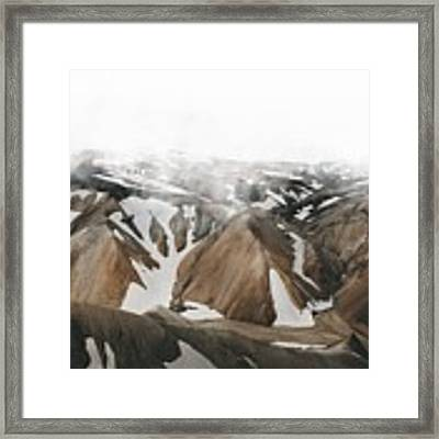 Iceland Mountains  Framed Print by Fernando Puente