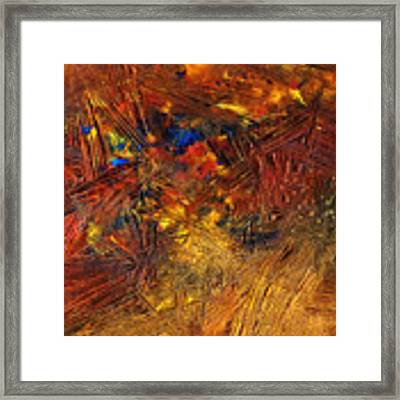 Icy Abstract 11 Framed Print by Sami Tiainen