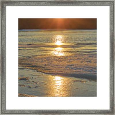 Icy Sunset Framed Print by Beth Sawickie