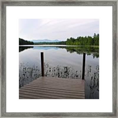 Izzys Pond With Dock Framed Print by AnnaJanessa PhotoArt