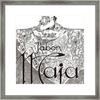 Jabon Framed Print by ReInVintaged