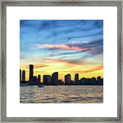 Jersey Skyline Framed Print by David A Lane