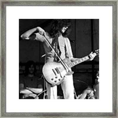 Jimmy Page With Bow 1969 Framed Print