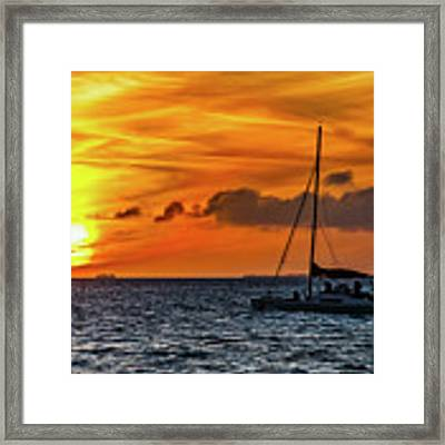 Key West Double Sun Sunset Framed Print by Bob Slitzan