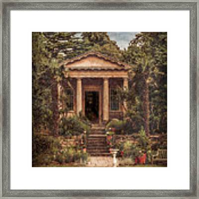 Kew Gardens, England - King William's Temple Framed Print by Mark Forte