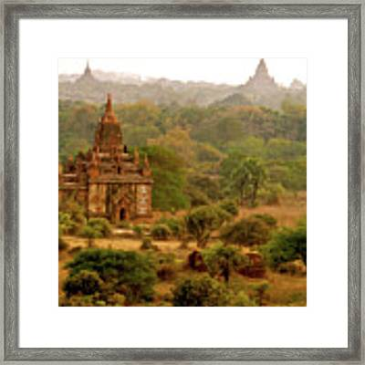 Kingdom Of Temples Framed Print by Yen