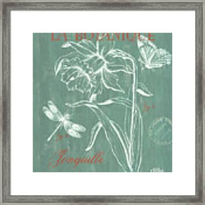 La Botanique Aqua Framed Print by Debbie DeWitt