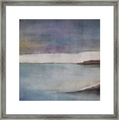 Lagoon Bleu Framed Print by Vesna Antic