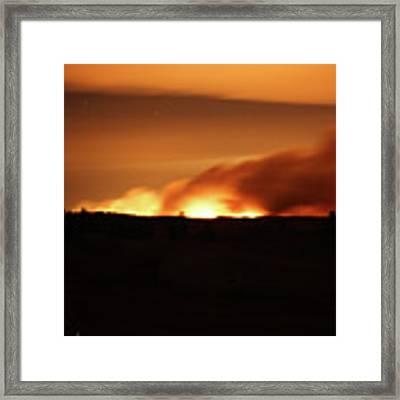 Legion Lake Fire At Night Framed Print by Bill Gabbert