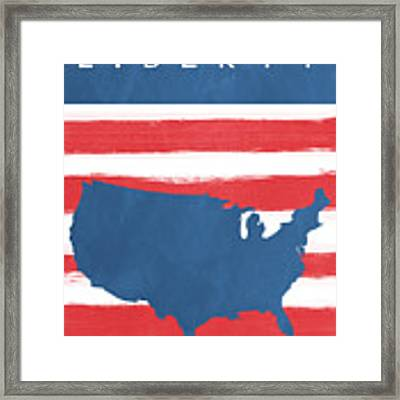 Liberty Framed Print by Linda Woods