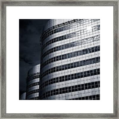 Lines And Curves Framed Print