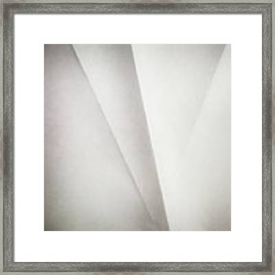 Lines On Paper Framed Print by Scott Norris