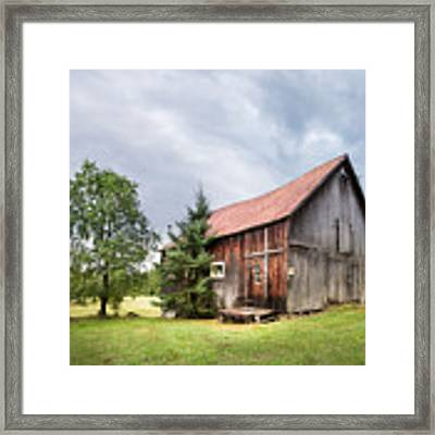 Little Rustic Barn, Adirondacks Framed Print by Gary Heller