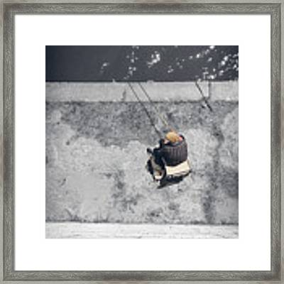 Loneliness Of A Fisherman Framed Print by Stwayne Keubrick