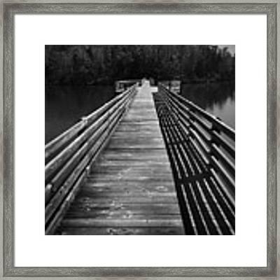Long Wooden Bridge Framed Print by Kelly Hazel