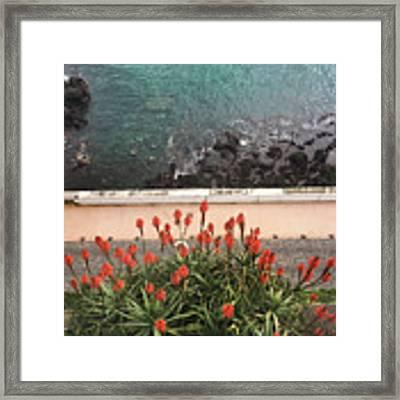 Looking Down, Angra Do Heroismo, Terceira Island Of Portugal Framed Print by Kelly Hazel