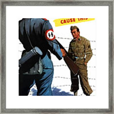 Loose Talk Can Cause -- Ww2 Propaganda Framed Print