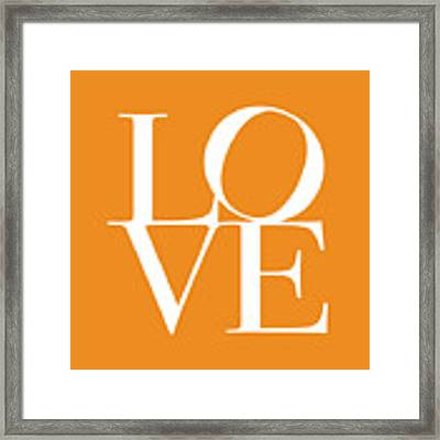 Love In Orange Framed Print by Michael Tompsett