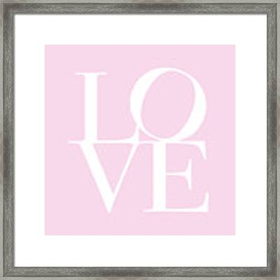 Love In Pink Framed Print