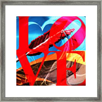 Love Swirls At The San Francisco Cupids Span Sculpture Dsc1819 Framed Print by Wingsdomain Art and Photography