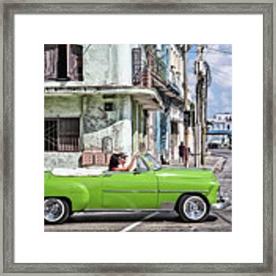 Lovin' Lime Green Chevy Framed Print by Gigi Ebert