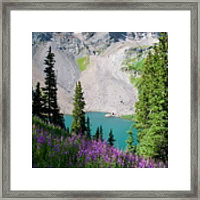 Lower Blue Lake Summer Portrait Framed Print by Cascade Colors