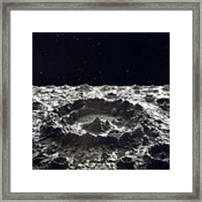 Lunar Crater, 1874.  Framed Print by Granger