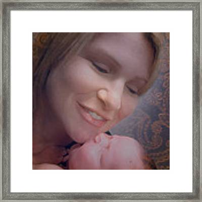 Madonna And Child 2 Framed Print by Kate Word