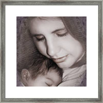Madonna And Child 3 Framed Print by Kate Word