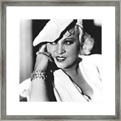 Mae West, Paramount Pictures, Ca. Mid Framed Print by Everett