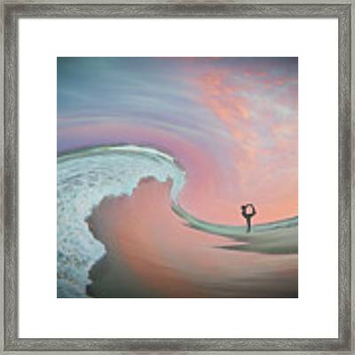 Magical Beach Sunset Framed Print by Beth Sawickie