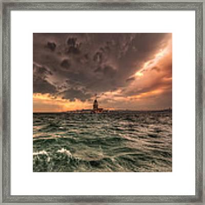 Maiden's Tower Framed Print by Murat Kasim
