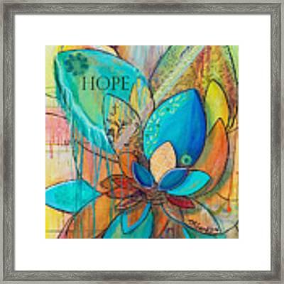 Spirit Lotus With Hope Framed Print by TM Gand