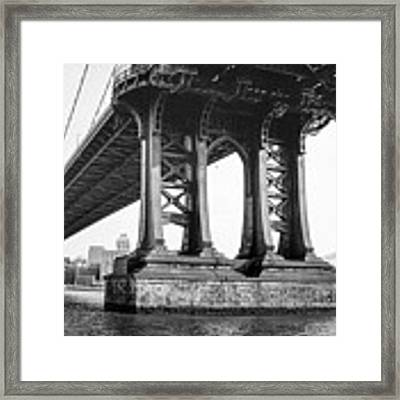 Manhattan Bridge, Afternoon Framed Print by Gary Heller