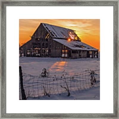 Mapleton Barn Framed Print by Wesley Aston