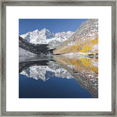 Maroon Bells Mirror Framed Print by Jemmy Archer
