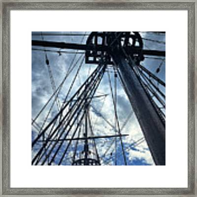Masts And Rigging Framed Print by David A Lane