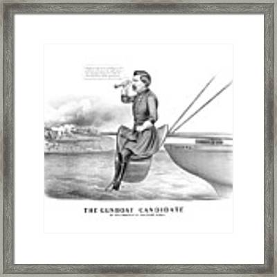 Mcclellan The Gunboat Candidate Framed Print by War Is Hell Store