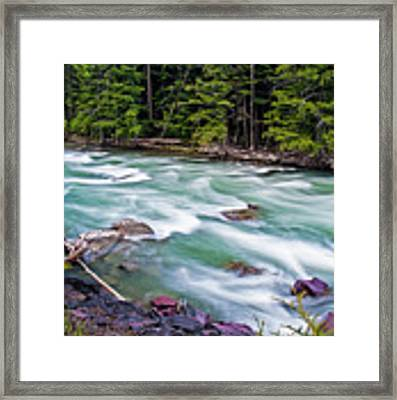 Mcdonald Creek Framed Print by Gary Lengyel
